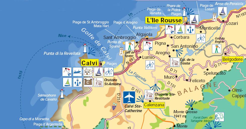 Carte Corse Nord.Carte Corse Nord Ouest Mismis