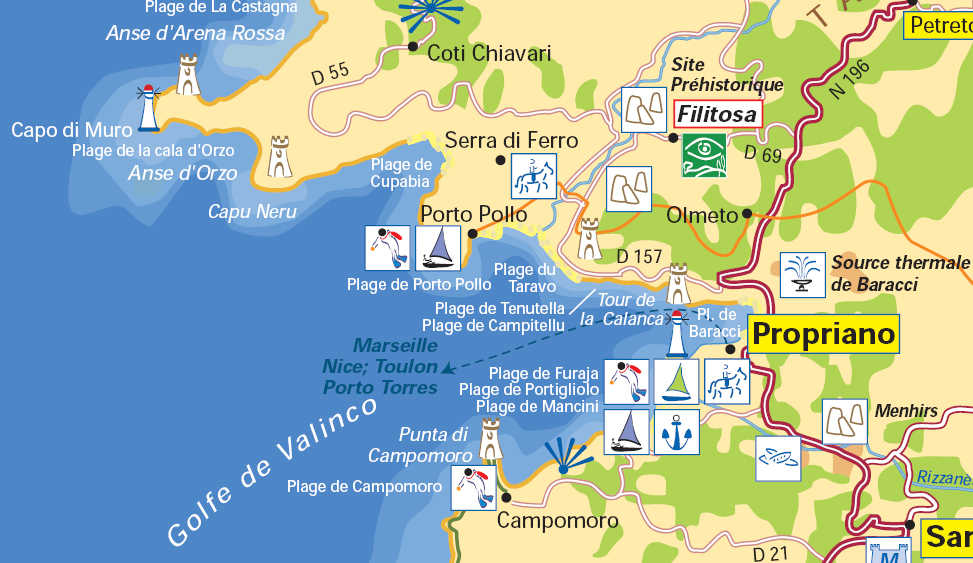 Map Of France And Corsica.Propriano Corsica France Cruise Port Of Call